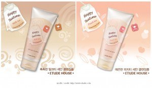 Etude House Happy Teatime Cleansing Foam Peach & Milk Tea