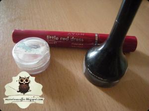 AVON Little Red Dress Mascara, Tony Moly Backstage Gel Eyeliner #1 black