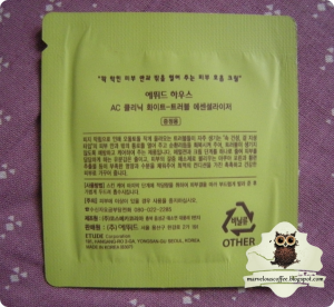 Etude House AC Clinic White-Trouble Essencializer