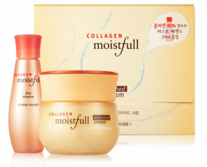 Etude House Moistfull Collagen First Essence/Water Moisture Cream