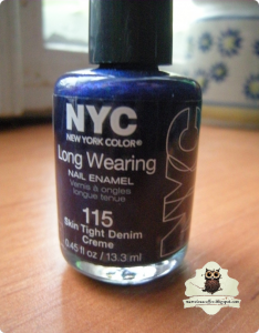 NYC Long Wearing Nail Polish #115 Skin Tight Denim Creme