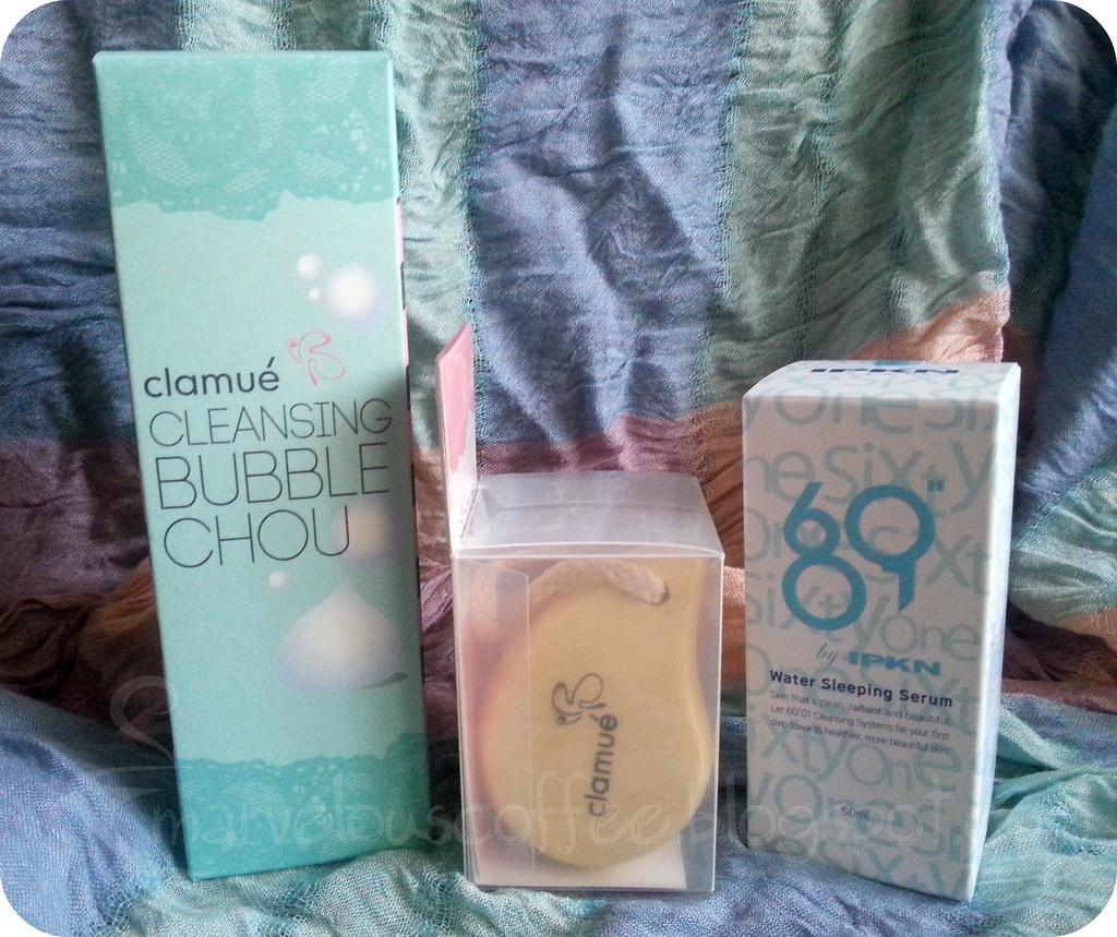 szczoteczka do mycia twarzy, Clamué Cleansing Bubble Chou, IPKN Water Sleeping Serum