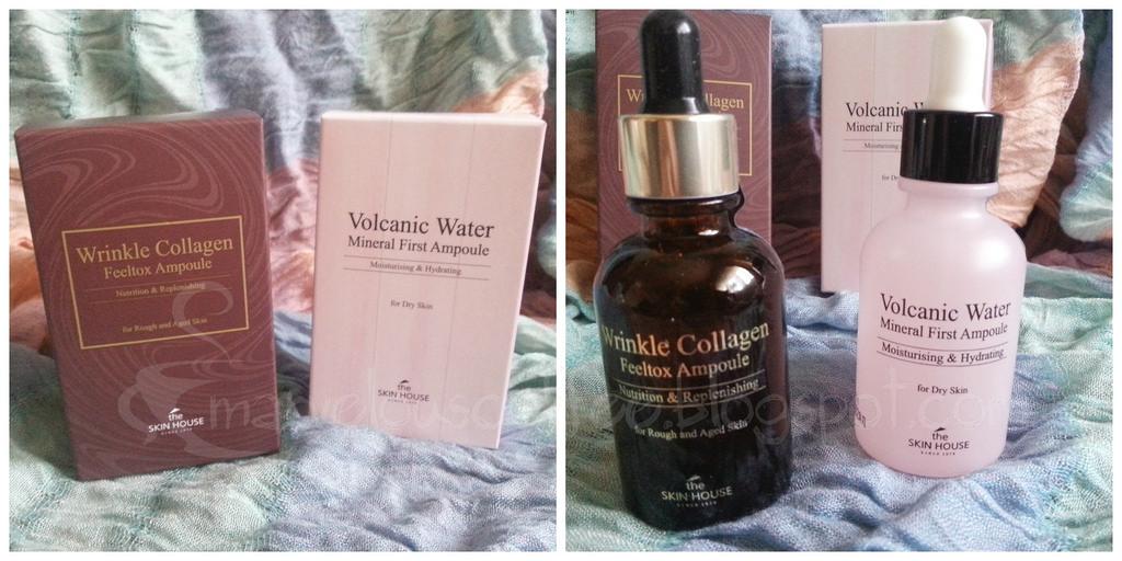 ampułki The Skin House Wrinkle Collagen oraz Volcanic Water