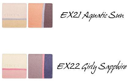 CHICCA Mystic Powder Eye Shadow EX21 i EX22