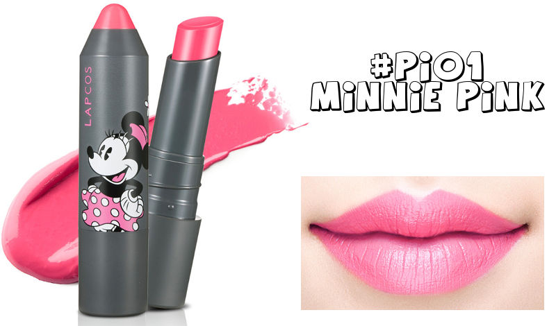 LAPCOS x Disney Drawing Lipstick PI01 Minnie Pink