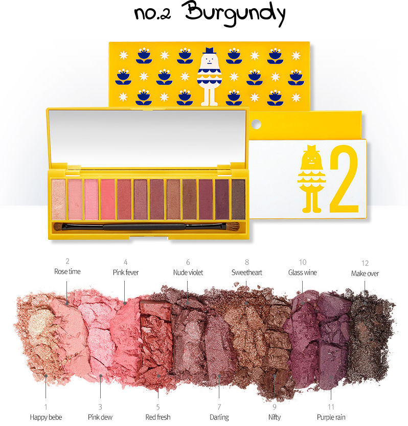 Aritaum Sticky Monster Lab Eyeshadow Palette no.2 Burgundy