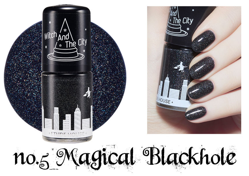 Etude House Halloween Play Nail no.5 Magical Blackhole
