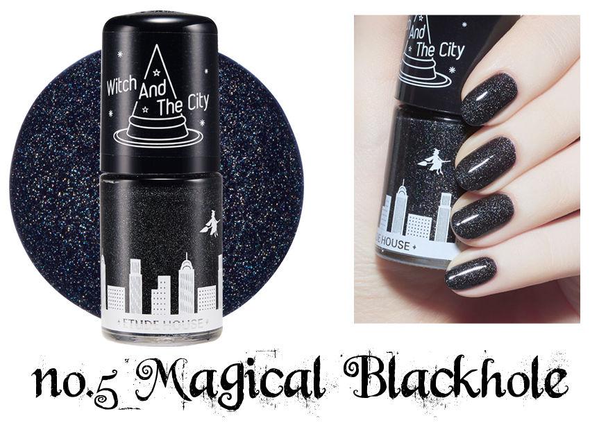 Etude House Halloween Play Nail no.5 Magical Blackhole