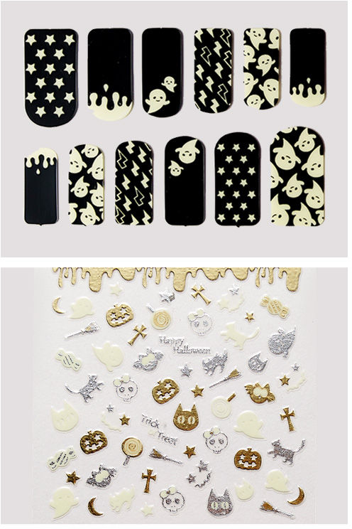 Etude House Halloween Play Nail Sticker no.1 Dazzling Halloweener