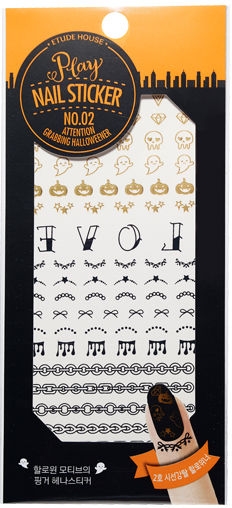 Etude House Halloween Play Nail Sticker no.2 Attentin Grabbing Halloweener