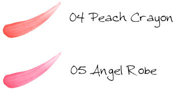 CHICCA Mesmeric Lip Line Stick 04 Peach Crayon, 05 Angel Robe