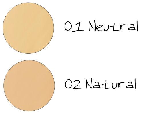 CHICCA Ravishing Glow Makeup Base Tone Up 01 Neutral, 02 Natural