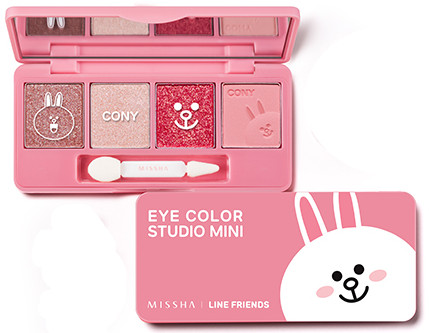 MISSHA Line Friends Edition Eye Color Mini Studio no.1 Cony Pink
