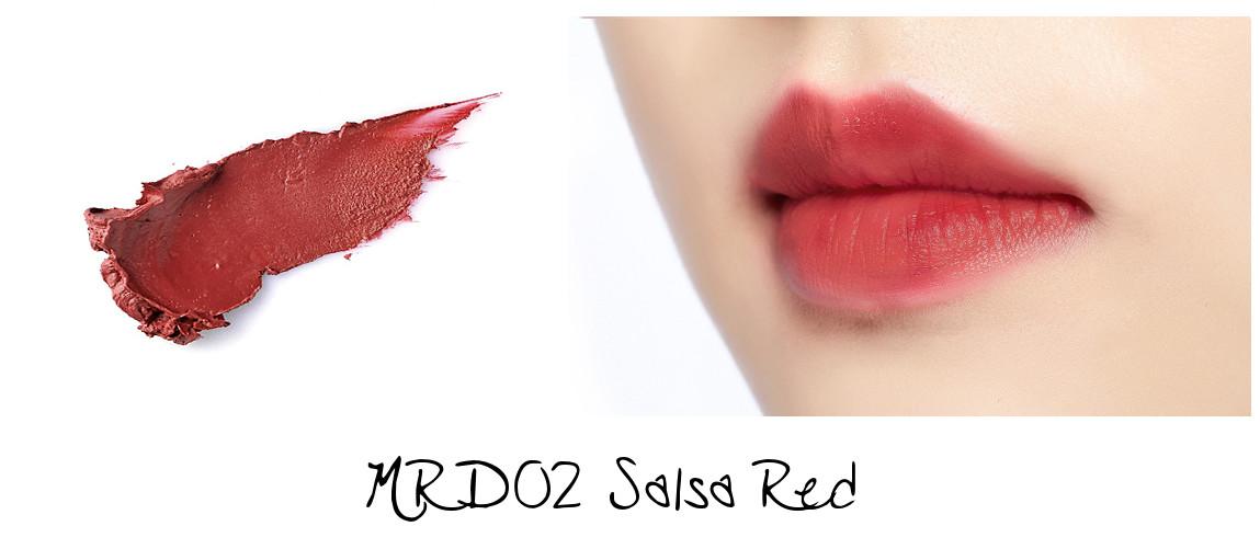 MISSHA Line Friends Edition Matt Lip Rouge MRD02 Salsa Red