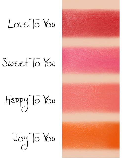 MISSHA Line Friends Edition Coloring Tint Balm Love To You, Sweet To You, Happy To You, Joy To You