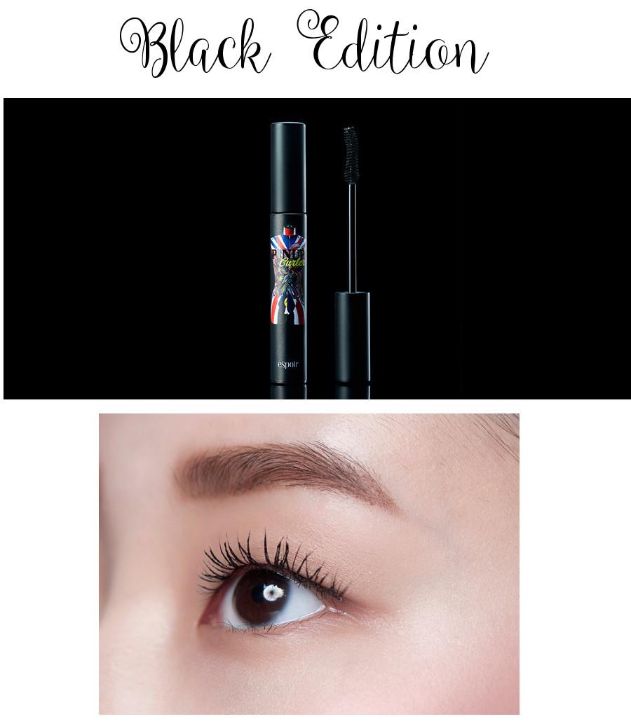 eSpoir 2016 Spring Collection Pinup Curler Full Black Glamorous Mascara Black Edition