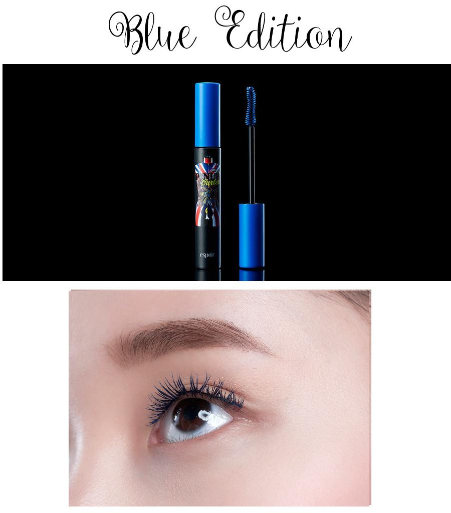 eSpoir 2016 Spring Collection Pinup Curler Full Black Glamorous Mascara Blue Edition