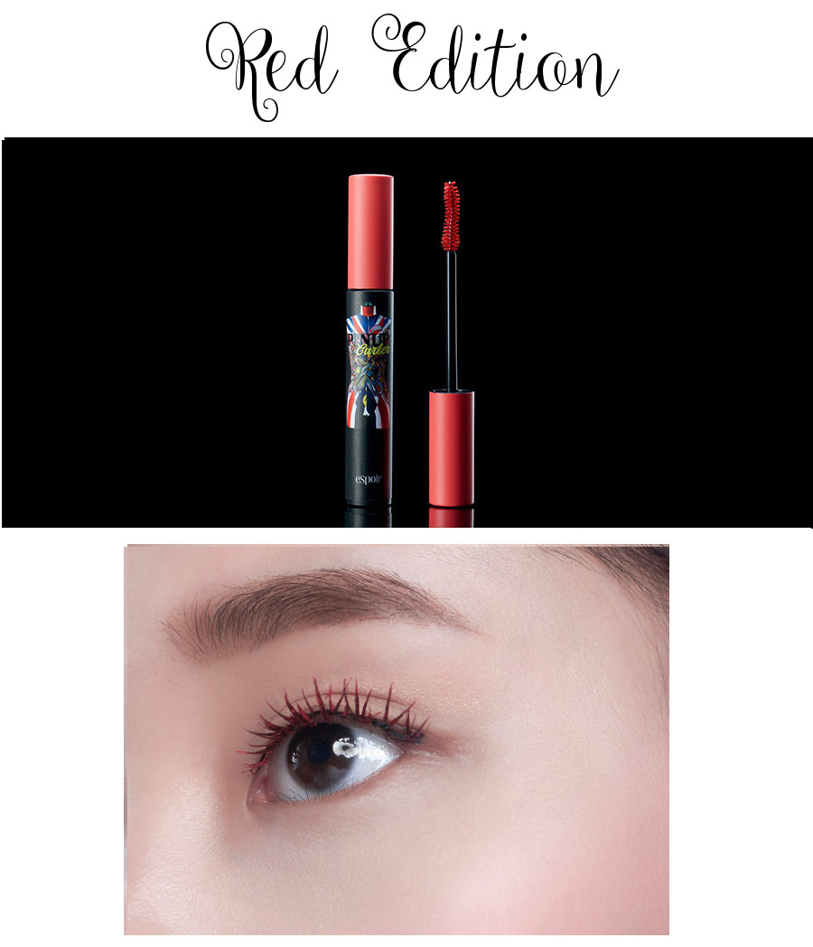 eSpoir 2016 Spring Collection Pinup Curler Full Black Glamorous Mascara Red Edition