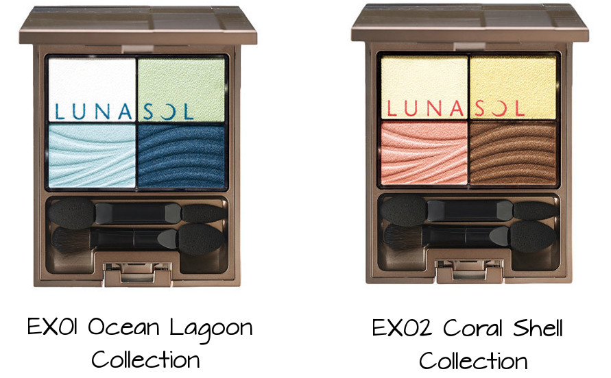 LUNASOL Clear Colorful Eyes EX01 Ocean Lagoon Collection, EX02 Coral Shell Collection