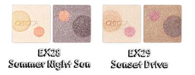 CHICCA Mysteric Powder Eyeshadow X28 Summer Night Sun, EX29 Sunset Drive