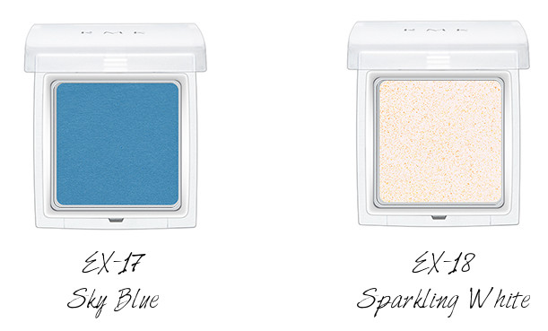 RMK Ingenious Powder Eye N EX-17 Sky Blue, EX-18 Sparkling White
