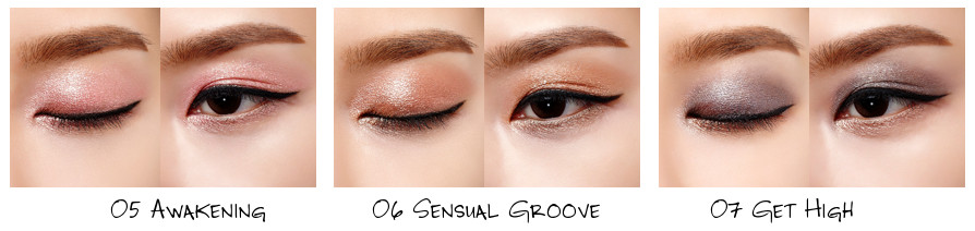 VDL Awakening Collection Expert Color Pot Eyes (Cluster) 05 Awakening, 06 Sensual Groove, 07 Get High