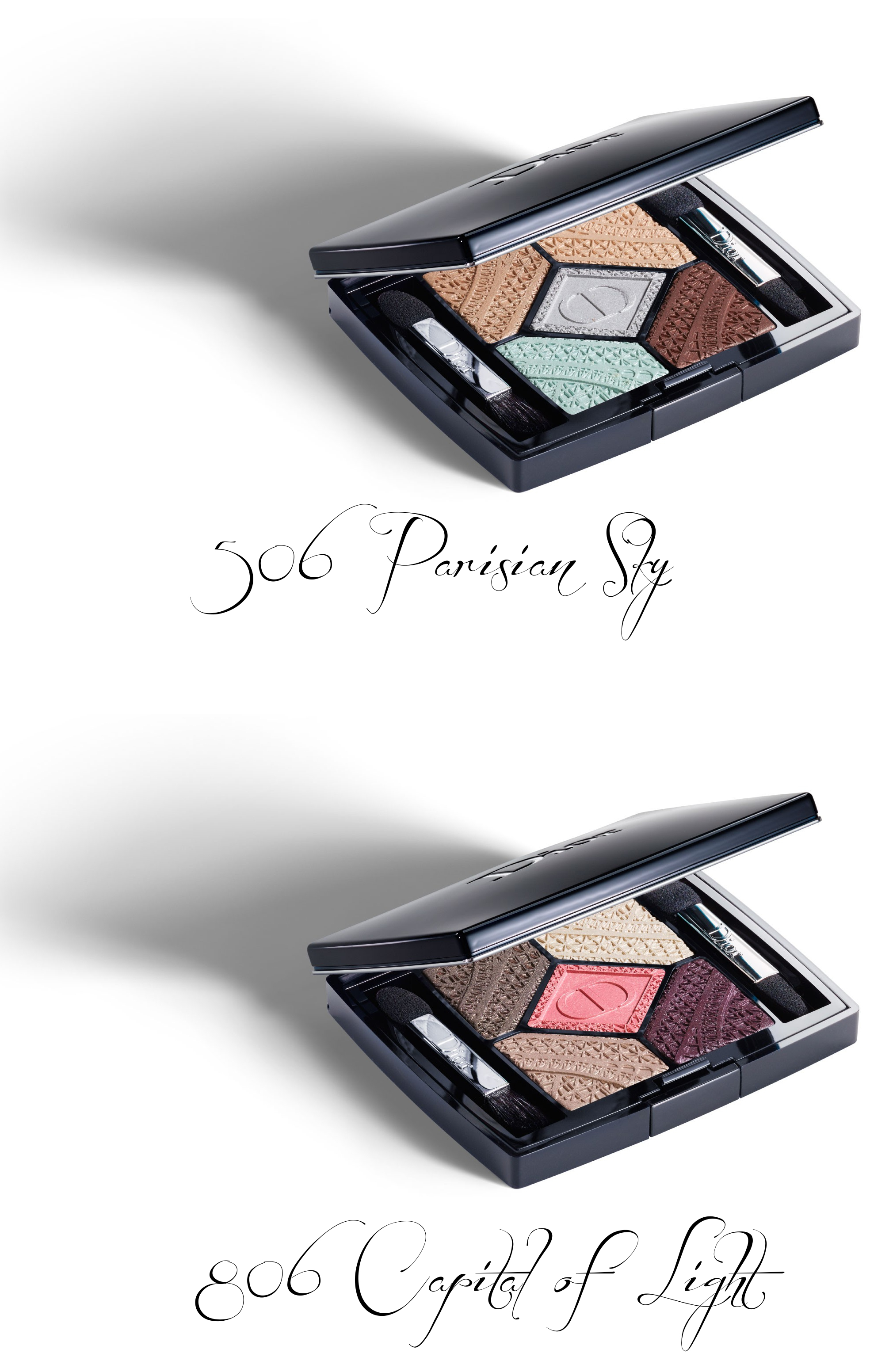 Dior kolekcja Autumn/Fall 2016 Skyline 5 Couleurs 506 Parisian Sky, 806 Capital of Light