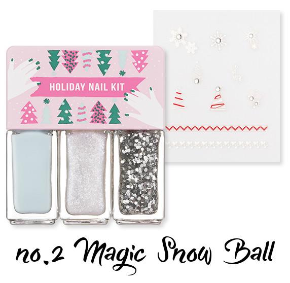 MISSHA Holiday Nail Kit no.2 Magic Snow Ball
