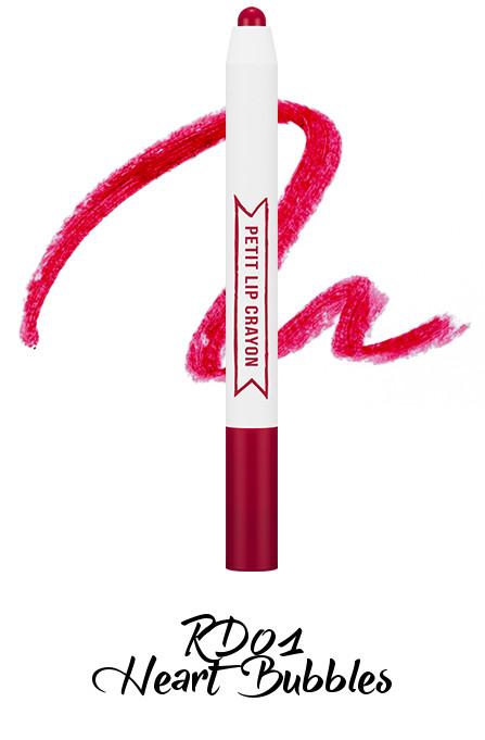 MISSHA Petit Lip Crayon RD01 Heart Bubbles