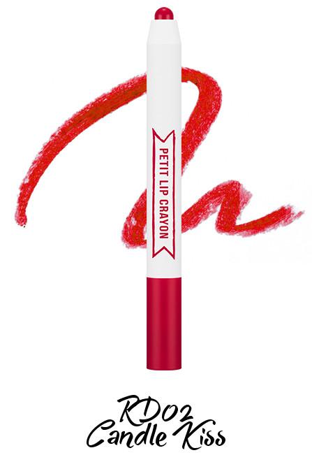 MISSHA Petit Lip Crayon RD02 Candle Kiss