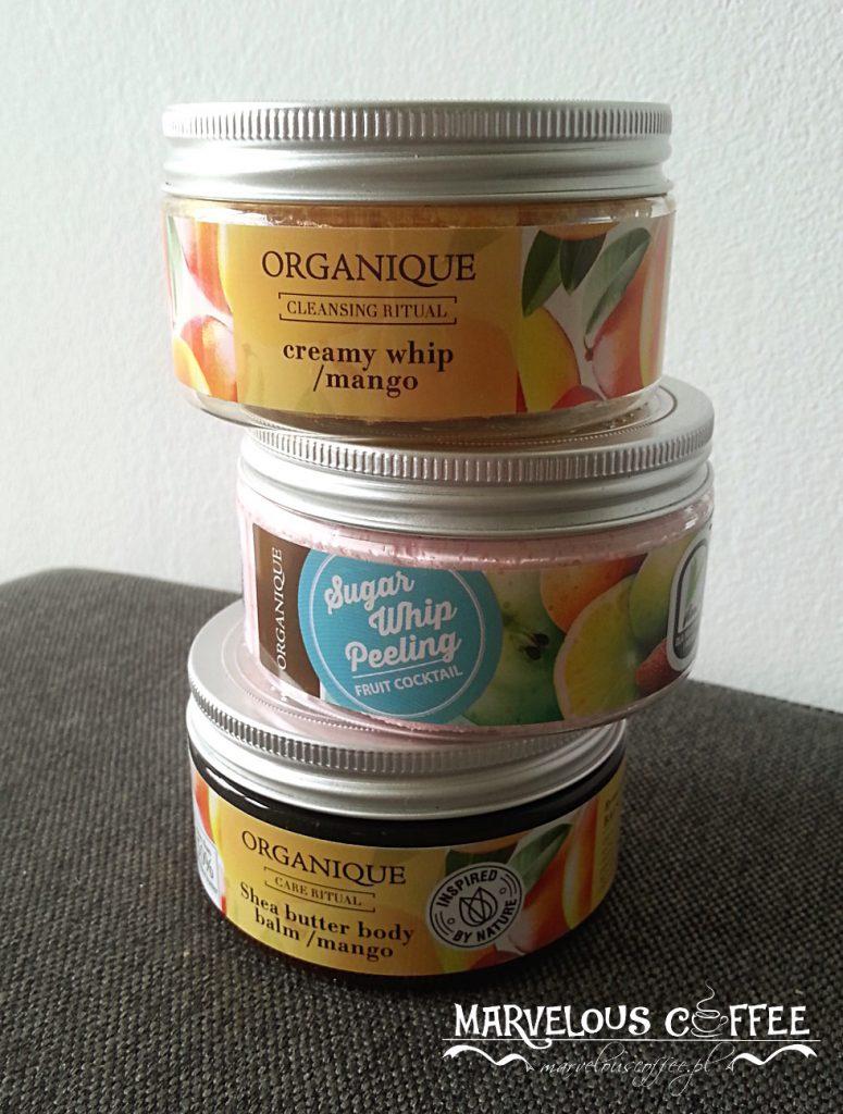 Organique pianka do kąpieli mango, balsam do ciała z masłem shea mango, cukrowa pianka peelingująca do ciała owocowy koktajl