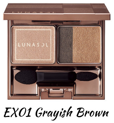 LUNASOL 2016 Winter Makeup Collection A Touch of Sold Gold Gold Nuance Eyes EX01 Grayish Brown