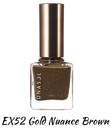 LUNASOL 2016 Winter Makeup Collection A Touch of Sold Gold Nail Finish N EX52 Gold Nuance Brown