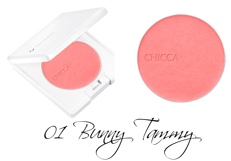 CHICCA Flawless Glow Flush Blush Powder 01 Bunny Tammy
