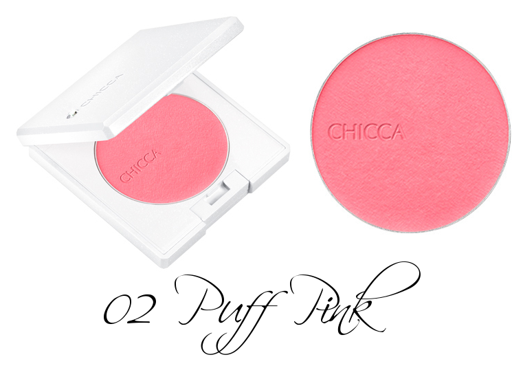 CHICCA Flawless Glow Flush Blush Powder 02 Puff Pink