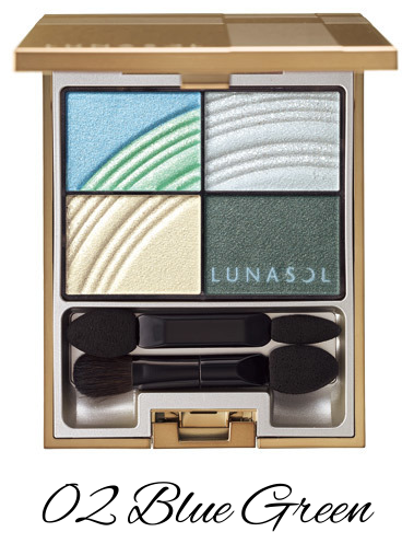 LUNASOL 2017 Spring Makeup Collection Colorful Sky Eyes 02 Blue Green