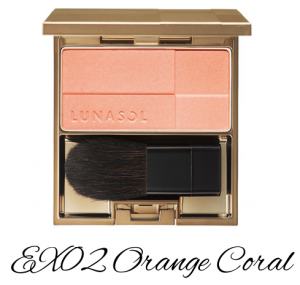LUNASOL 2017 Spring Makeup Collection Coloring Sheer Cheeks (Glow) EX02 Orange Coral