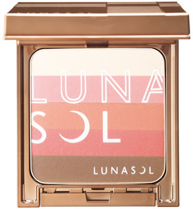 LUNASOL 2017 Sunny Summer Makeup Collection Modeling Sunny Face & Blush EX01 Sunny Coral