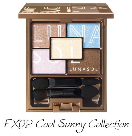 LUNASOL 2017 Sunny Summer Makeup Collection Sunny Summer Eyes EX02 Cool Sunny Collection
