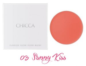 CHICCA 2017 Summer Collection Summer Vivid Flawless Glow Flush Blush 03 Sunny Kiss