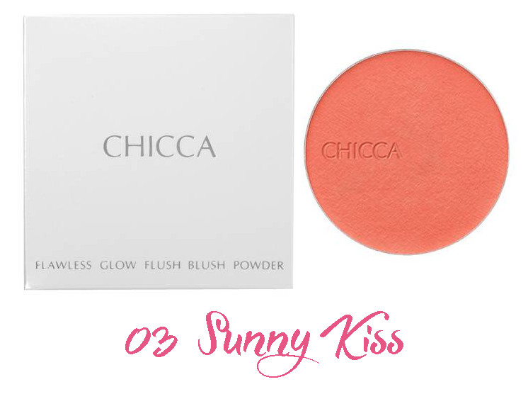 CHICCA 2017 Summer Collection Summer Vivid Flawless Glow Flush Blush Powder 03 Sunny Kiss