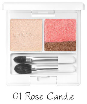 CHICCA 2017 Autumn Collection New Romanticism Flawless Glow Lid Teture Eye Shadow 01 Rose Candle