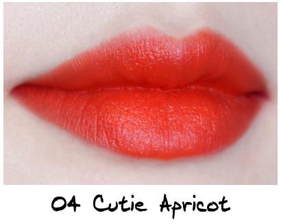 Skinfood Apricot Delight Makeup Line Apricot Delight Cotton Rouge 04 Cutie Apricot