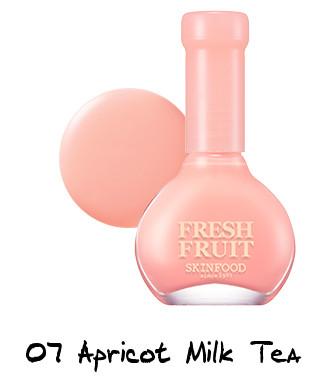 Skinfood Apricot Delight Makeup Line Fresh Fruit Nail - Apricot Collection 07 Apricot Milk Tea
