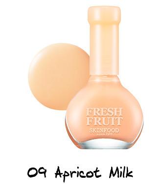 Skinfood Apricot Delight Makeup Line Fresh Fruit Nail - Apricot Collection 09 Apricot Milk