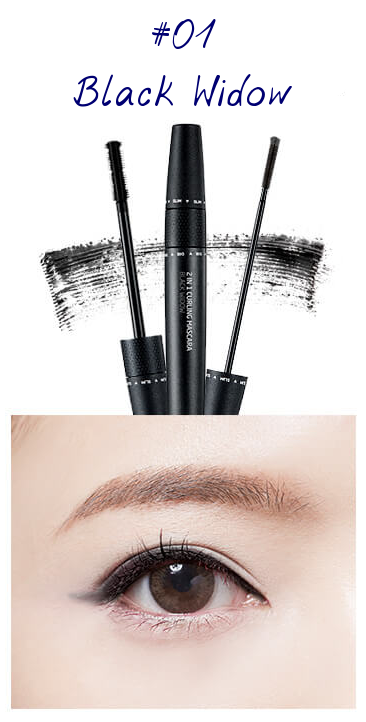 The Face Shop Marvel Edition 2 in 1 Curling Mascara 01 Black Widow