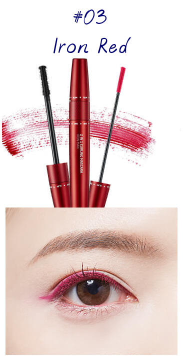 The Face Shop Marvel Edition 2 in 1 Curling Mascara 03 Iron Red