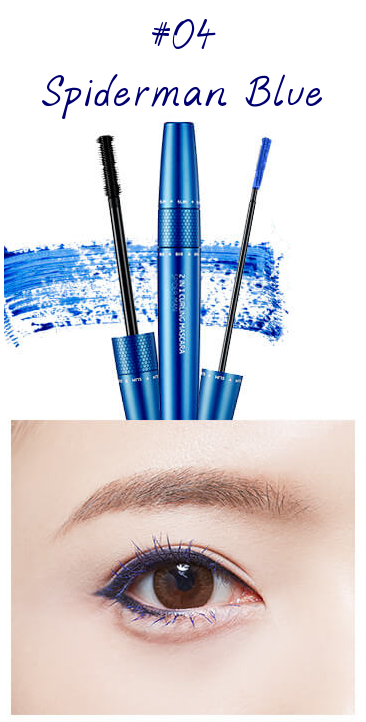 The Face Shop Marvel Edition 2 in 1 Curling Mascara 04 Spiderman Blue