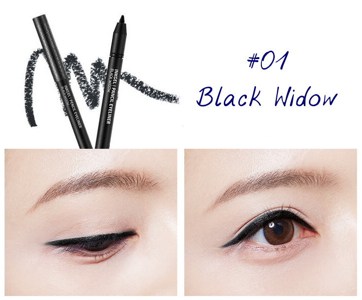 The Face Shop Marvel Edition Inkgel Pencil Eyeliner 01 Black Widow