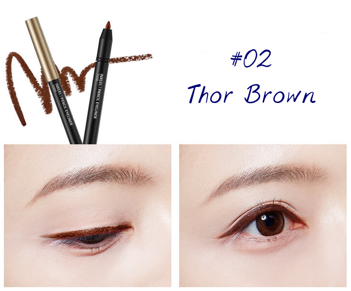 The Face Shop Marvel Edition Inkgel Pencil Eyeliner 02 Thor Brown
